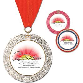 GEM Award Medal w/ Grosgrain Neck Ribbon