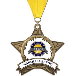 AS14 Award Medal w/ Grosgrain Neck Ribbon