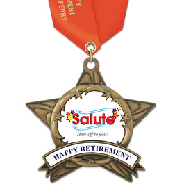 AS14 All Star Award Medal w/ Satin Neck Ribbon