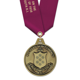 HG Award Medal w/ Satin Neck Ribbon