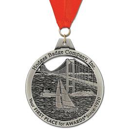 HH Award Medal w/ Grosgrain Neck Ribbon