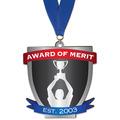 Birchwood Custom Medal w/ Grosgrain Neck Ribbon