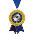Birchwood Stock Shape Medal w/ Grosgrain Neck Ribbon