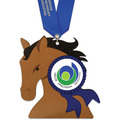 Birchwood Stock Shape Medal w/ Satin Neck Ribbon