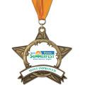 AS14 All Star Award Medals w/ Grosgrain Neck Ribbon