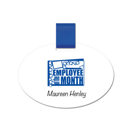 Oval Pin-on Name Tag