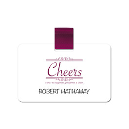 Rectangular Pin-on Name Tag