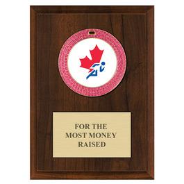 GEM Medal Award Plaque - Cherry Finish