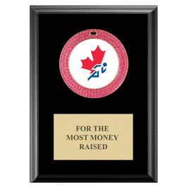 GEM Medal Award Plaque - Black Finish