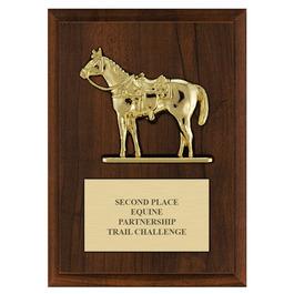 Quarter Horse w/ Saddle Award Plaque