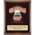 Full Color Award Plaque - Espresso w/ Engraved Plate