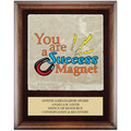 Full Color Award Plaque - Espresso w/ Tumbled Stone Tile & Engraved Plate
