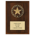 Rising Star Medal Award Plaque - Cherry Finish