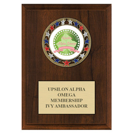 RSG Award Medal Plaque - Cherry Finish