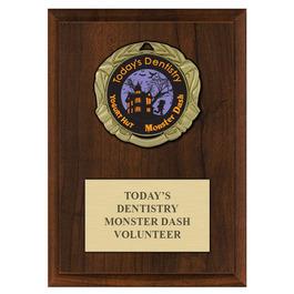 XBX Medal Award Plaque - Cherry Finish