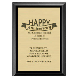 Award Plaque - Black w/ Engraved Plate