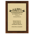 Award Plaque - Cherry Finish w/ Engraved Plate