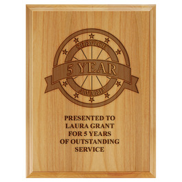 Award Plaque - Engraved Red Alder