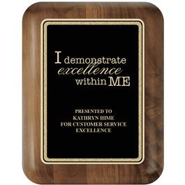 Walnut Award Plaque