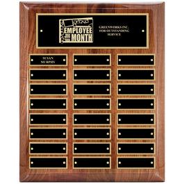 Walnut Perpetual Award Plaque