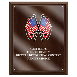 Full Color Award Plaque - Cherry Finish w/ Acrylic Overlay