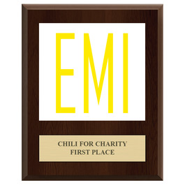 Full Color Award Plaque - Cherry Finish w/ Engraved Plate