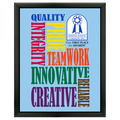 Full Color Award Plaque - Black