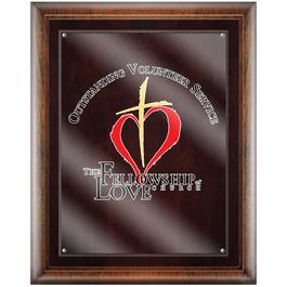 Full Color Award Plaque - Espresso w/ Acrylic Overlay