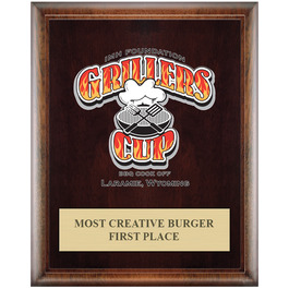 Full Color Award Plaque - Espresso w/ Engraved Plate