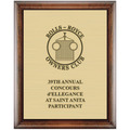 Award Plaque - Espresso w/ Engraved Plate