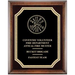 Award Plaque - Espresso w/ Florentine Plate