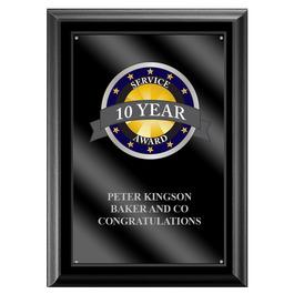 Full Color Award Plaque - Black w/ Acrylic Overlay