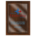 Full Color Award Plaque - Cherry Finish w/ Acrylic Overlay