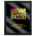 Full Color Award Plaque - Black w/ Acrylic Overlay