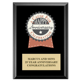 Full Color Award Plaque - Black w/ Engraved Plate