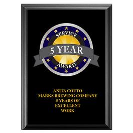 Full Color Award Plaque - Black
