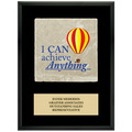 Full Color Award Plaque  - Black w/ Tumbled Stone Tile & Engraved Plate