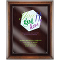 Full Color Award Plaque - Espresso w/ Acrylic Overlay