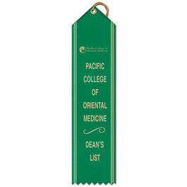 Point Top Award Ribbon w/ Border