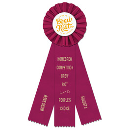 Ideal Rosette Award Ribbon w/ 3 Streamer Printing