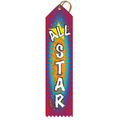 Stock All Star Multicolor Point Top Award Ribbon