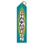 Stock Champion Multicolor Point Top Award Ribbon
