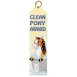 Clean Pony Award Ribbon