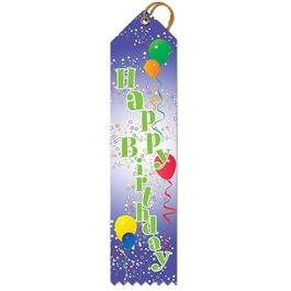 Happy Birthday Balloon Award Ribbon