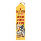 Junior Livestock Show Award Ribbon