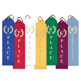 Laurel Wreath Point Top Award Ribbon