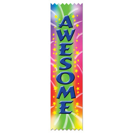 Stock Awesome Award Ribbon