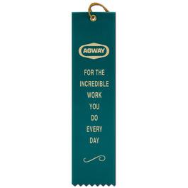 Square Top Award Ribbon