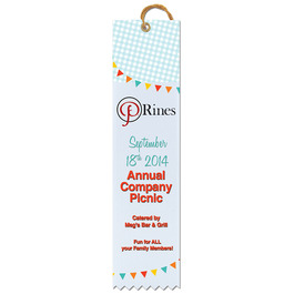 Multicolor Square Top Award Ribbon