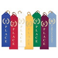 Stock Laurel Wreath Point Top Award Ribbon